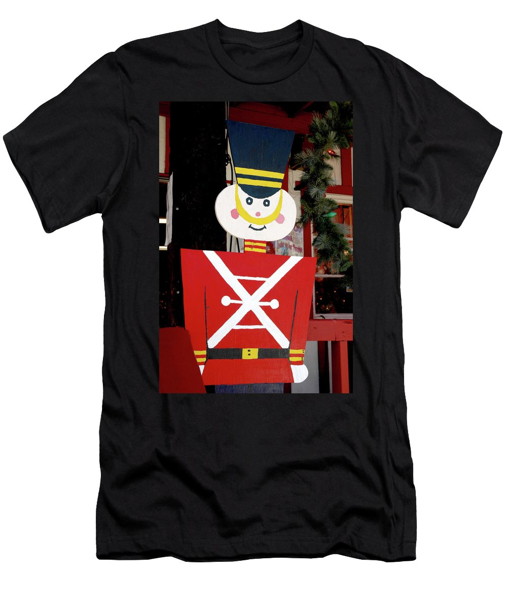 Christmas Men's T-Shirt (Athletic Fit) featuring the photograph Toy Soldier Christmas In Virginia City by LeeAnn McLaneGoetz McLaneGoetzStudioLLCcom