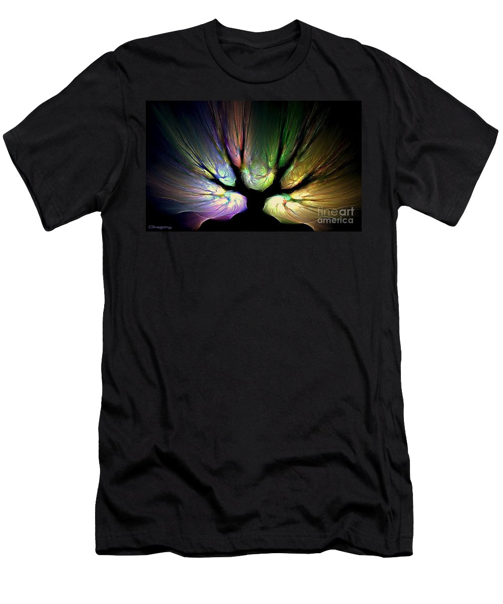 Digital Men's T-Shirt (Athletic Fit) featuring the digital art Tree Of Light by Greg Moores