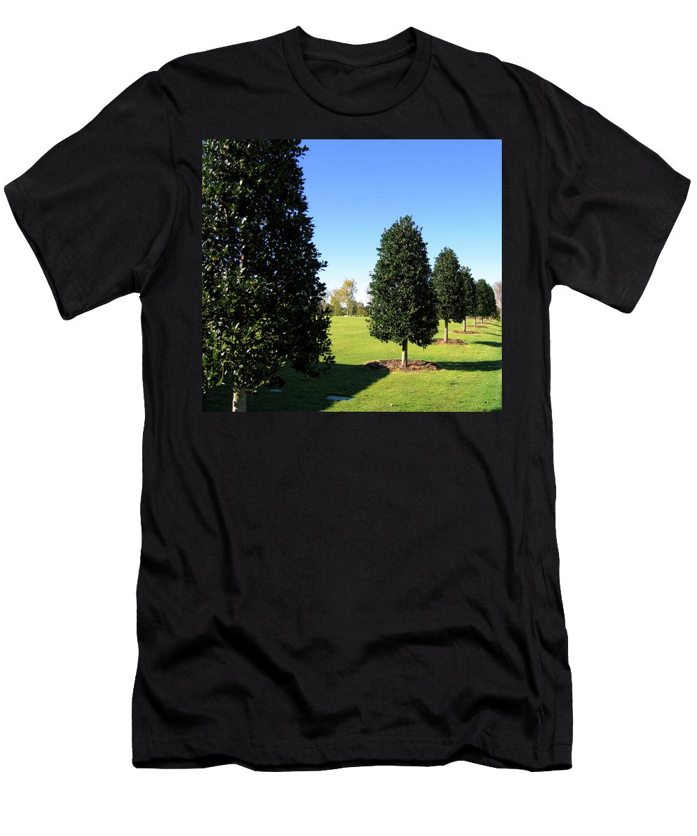 Trees Men's T-Shirt (Athletic Fit) featuring the photograph Tree Perspective by Denise Keegan Frawley