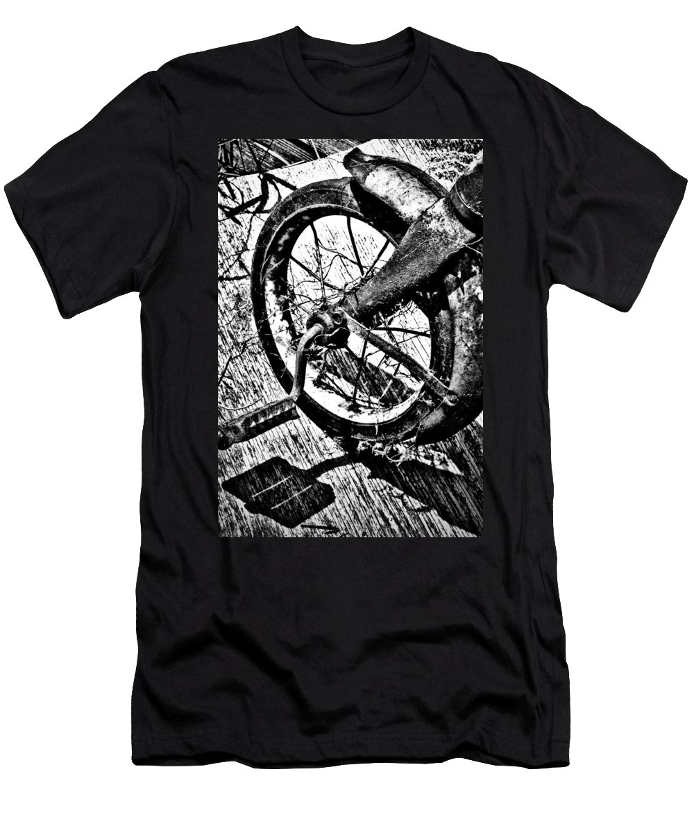 Street Photographer Men's T-Shirt (Athletic Fit) featuring the photograph Tricycle by The Artist Project