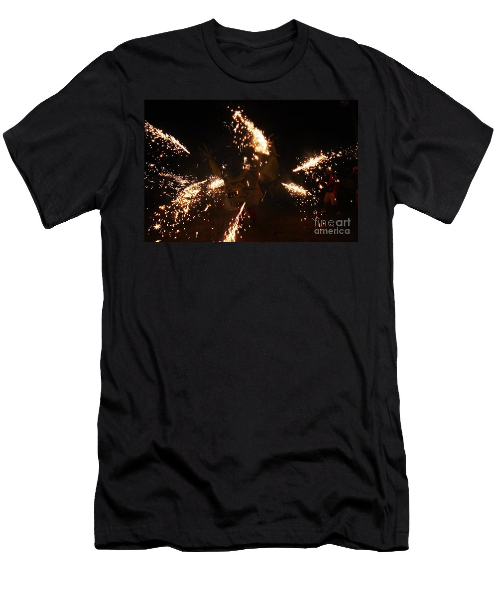 Fuego Men's T-Shirt (Athletic Fit) featuring the photograph Trigger Dragon by Agusti Pardo Rossello