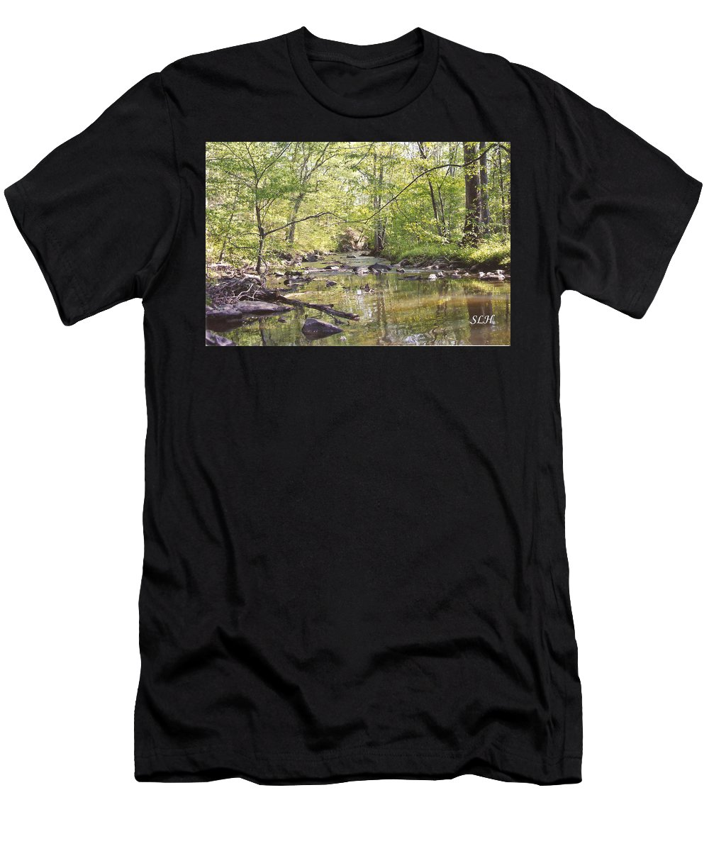 Trinity Foundry Men's T-Shirt (Athletic Fit) featuring the photograph Trinity Foundry by Lee Hartsell