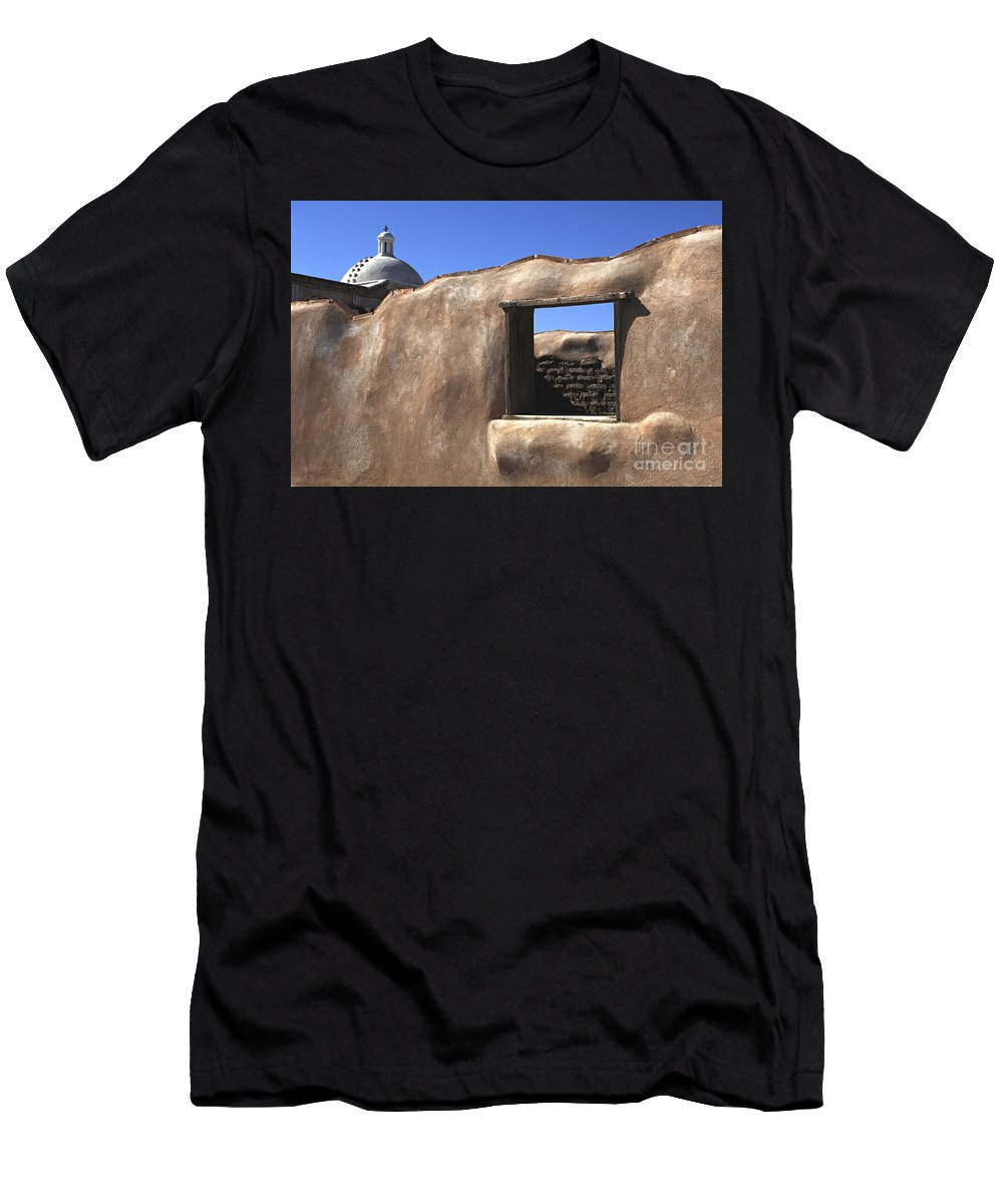Mission Men's T-Shirt (Athletic Fit) featuring the photograph Tumacacori Arizona by Bob Christopher
