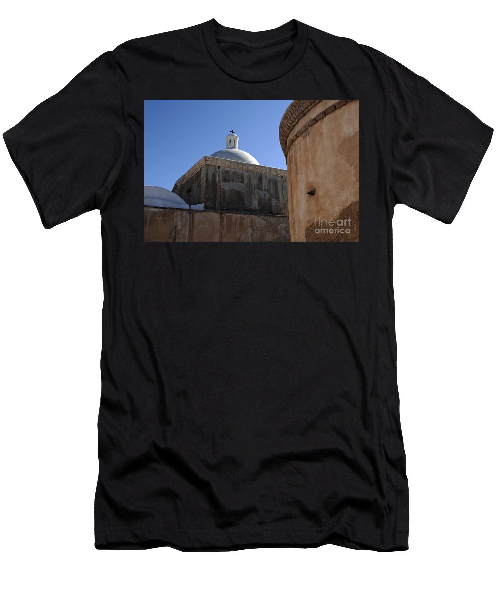 Tumacacori Men's T-Shirt (Athletic Fit) featuring the photograph Tumacacori Mission by Bob Christopher