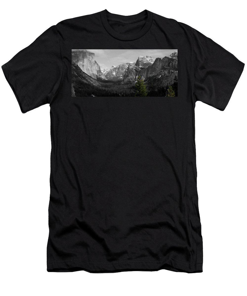 Selective Color Photograph T-Shirt featuring the photograph Tunnel View Selective Color by Travis Day