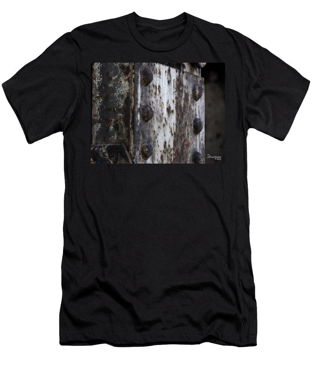 Tn Men's T-Shirt (Athletic Fit) featuring the photograph Under The Bridge by Ericamaxine Price