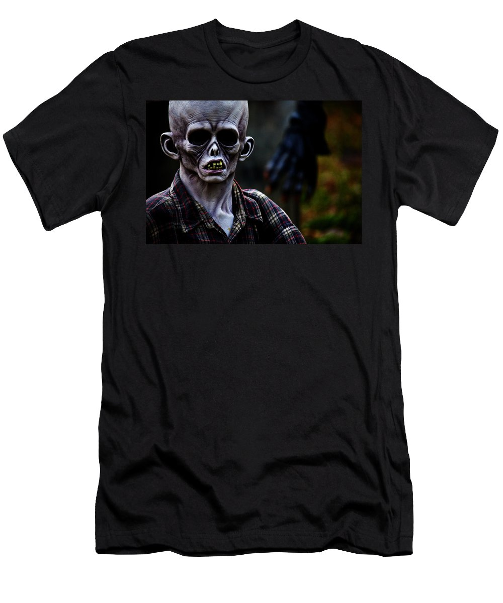 Horror Men's T-Shirt (Athletic Fit) featuring the photograph Unknown by Karol Livote