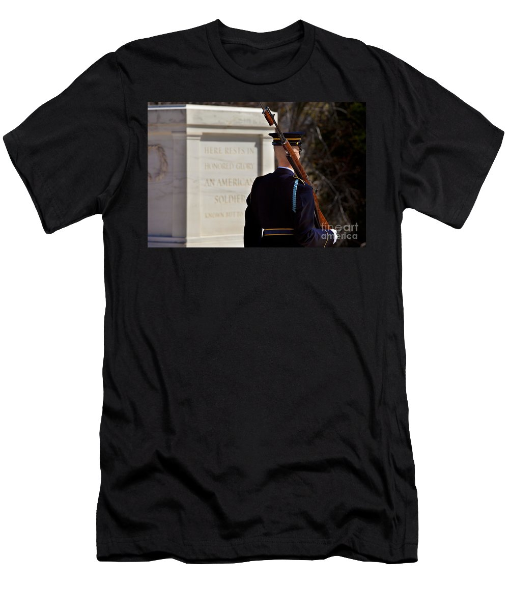 Tomb Of The Unknown Soldier Men's T-Shirt (Athletic Fit) featuring the photograph Unknown Soldier by Brian Jannsen