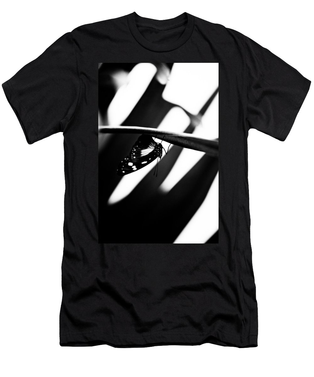 Art Men's T-Shirt (Athletic Fit) featuring the photograph Upside Down Butterfly by Hakon Soreide