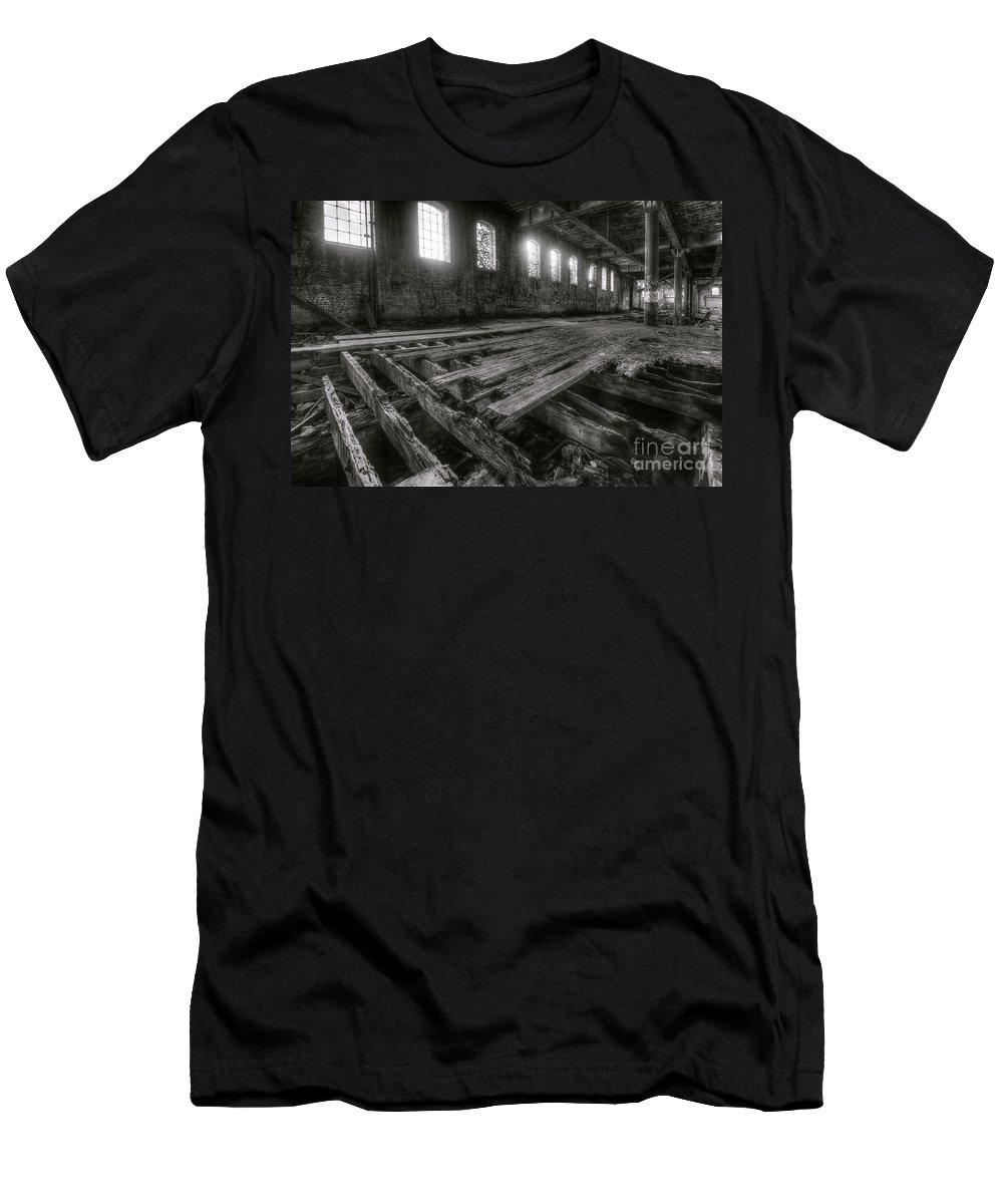 Yhun Suarez Men's T-Shirt (Athletic Fit) featuring the photograph Urban Decay 1.0 by Yhun Suarez