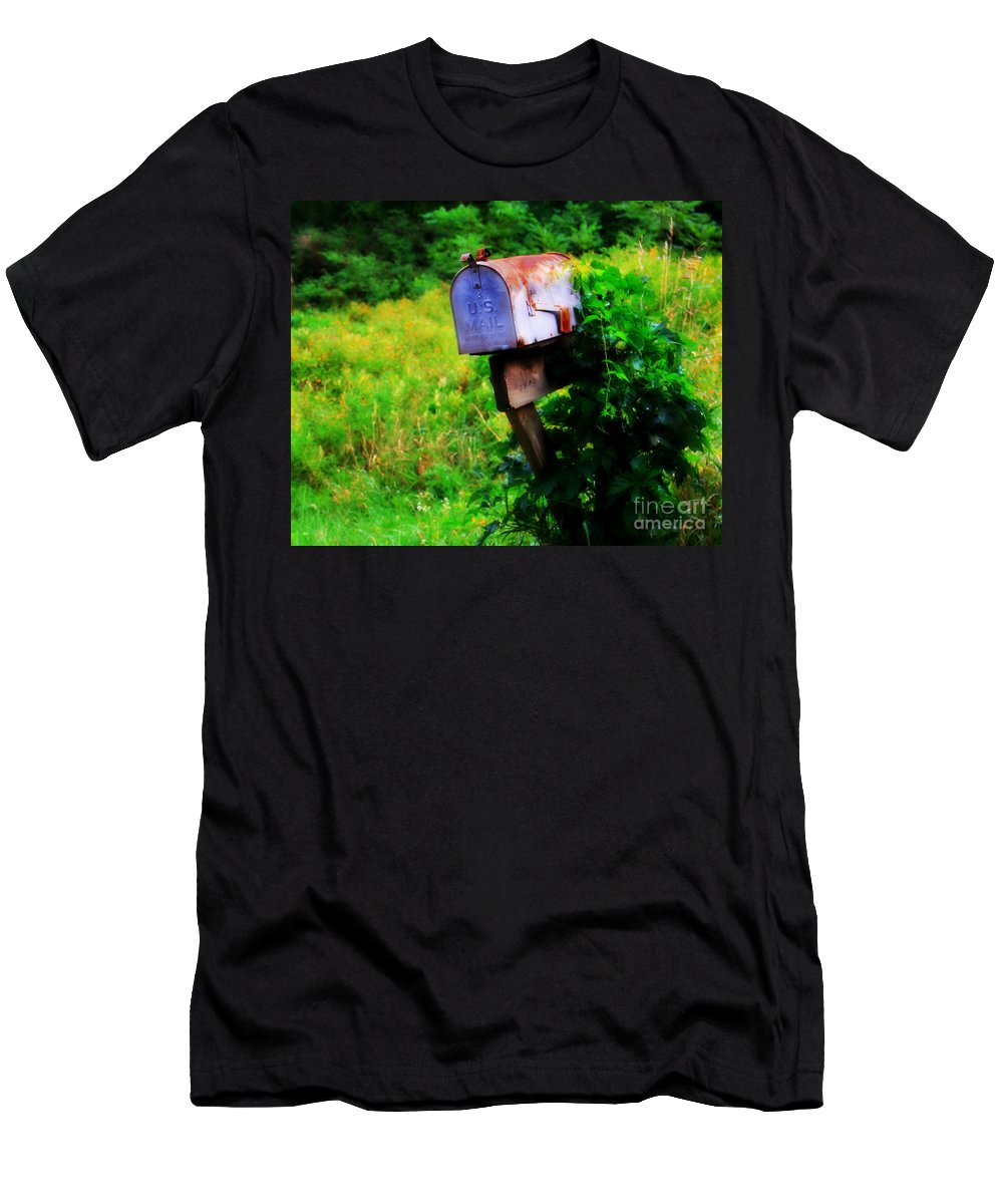 Mail Men's T-Shirt (Athletic Fit) featuring the photograph U.s. Mail 2 by Perry Webster