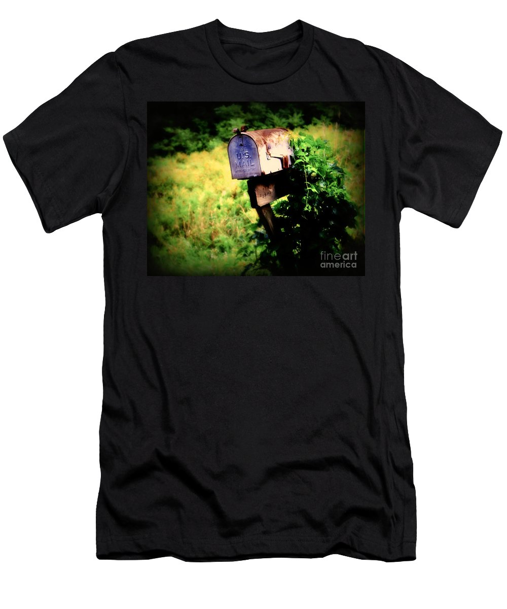 Mail Men's T-Shirt (Athletic Fit) featuring the photograph U.s. Mail by Perry Webster