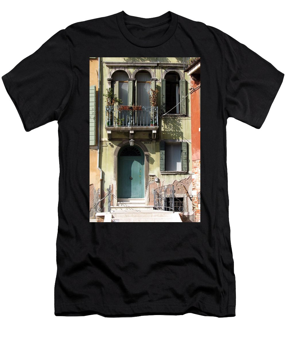 Venice Men's T-Shirt (Athletic Fit) featuring the photograph Venetian Doorway by Carla Parris