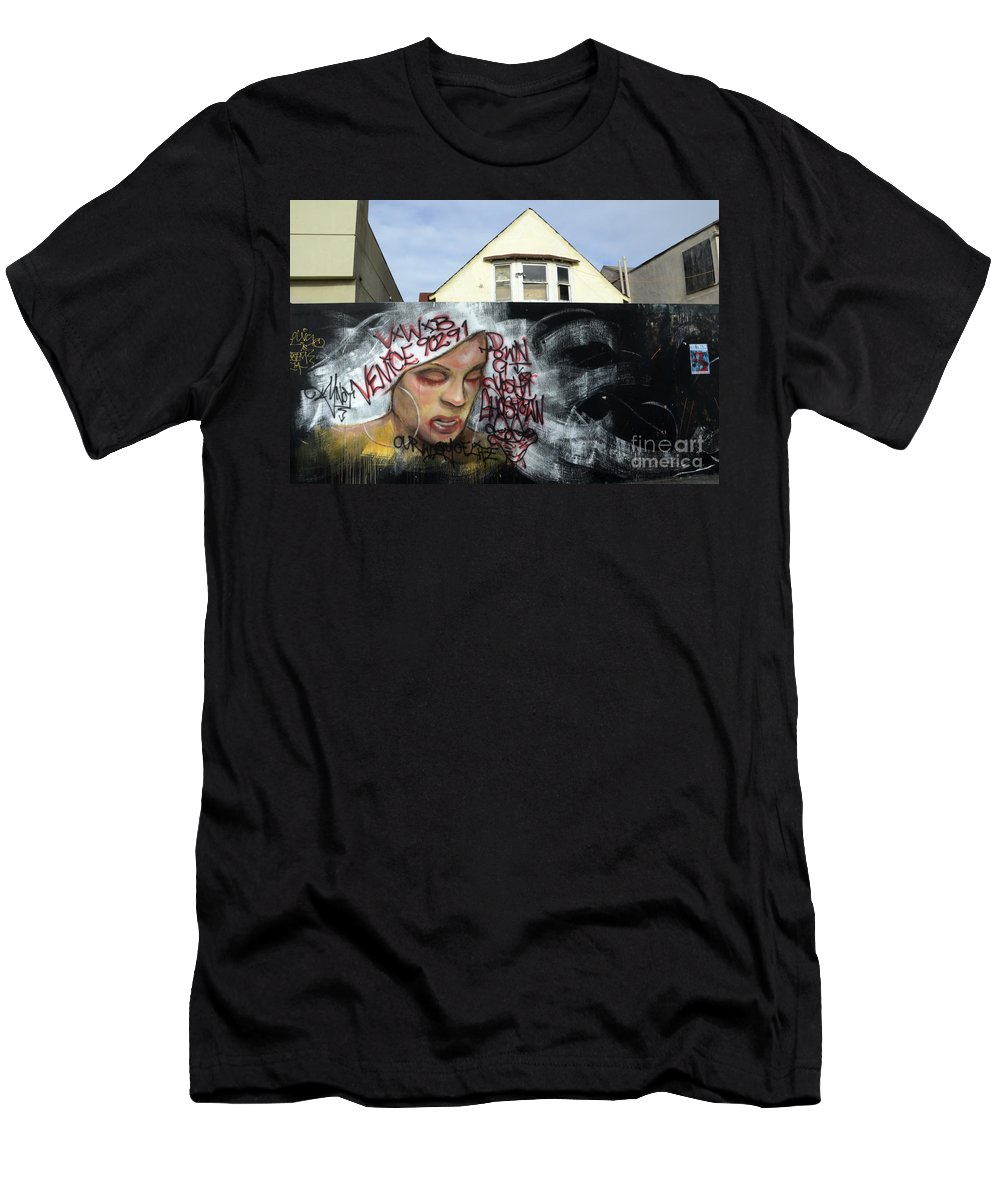 Wall Art Men's T-Shirt (Athletic Fit) featuring the photograph Venice Beach Wall Art 5 by Bob Christopher