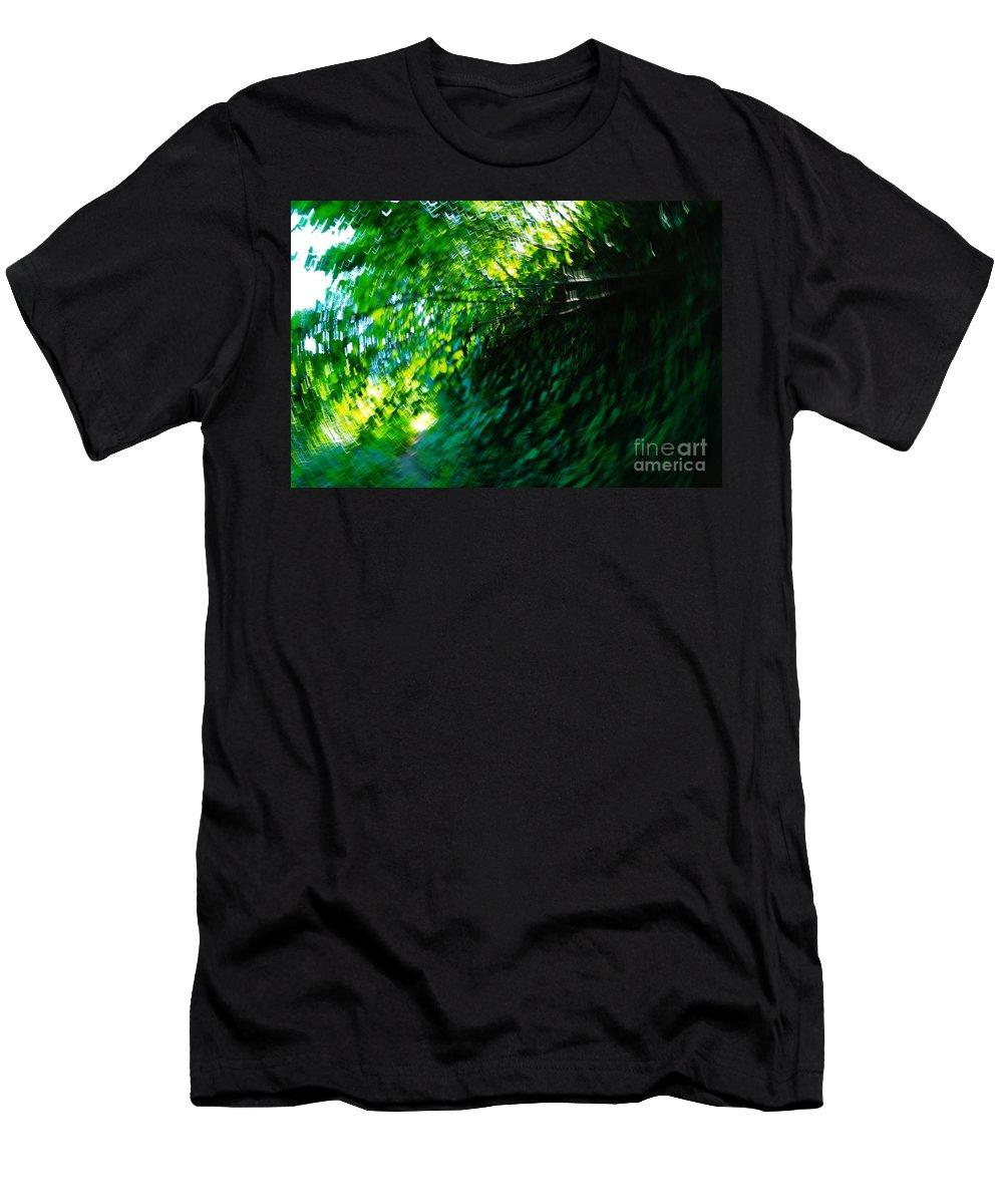 Leaves Men's T-Shirt (Athletic Fit) featuring the photograph Vertigo by Jeff Swan