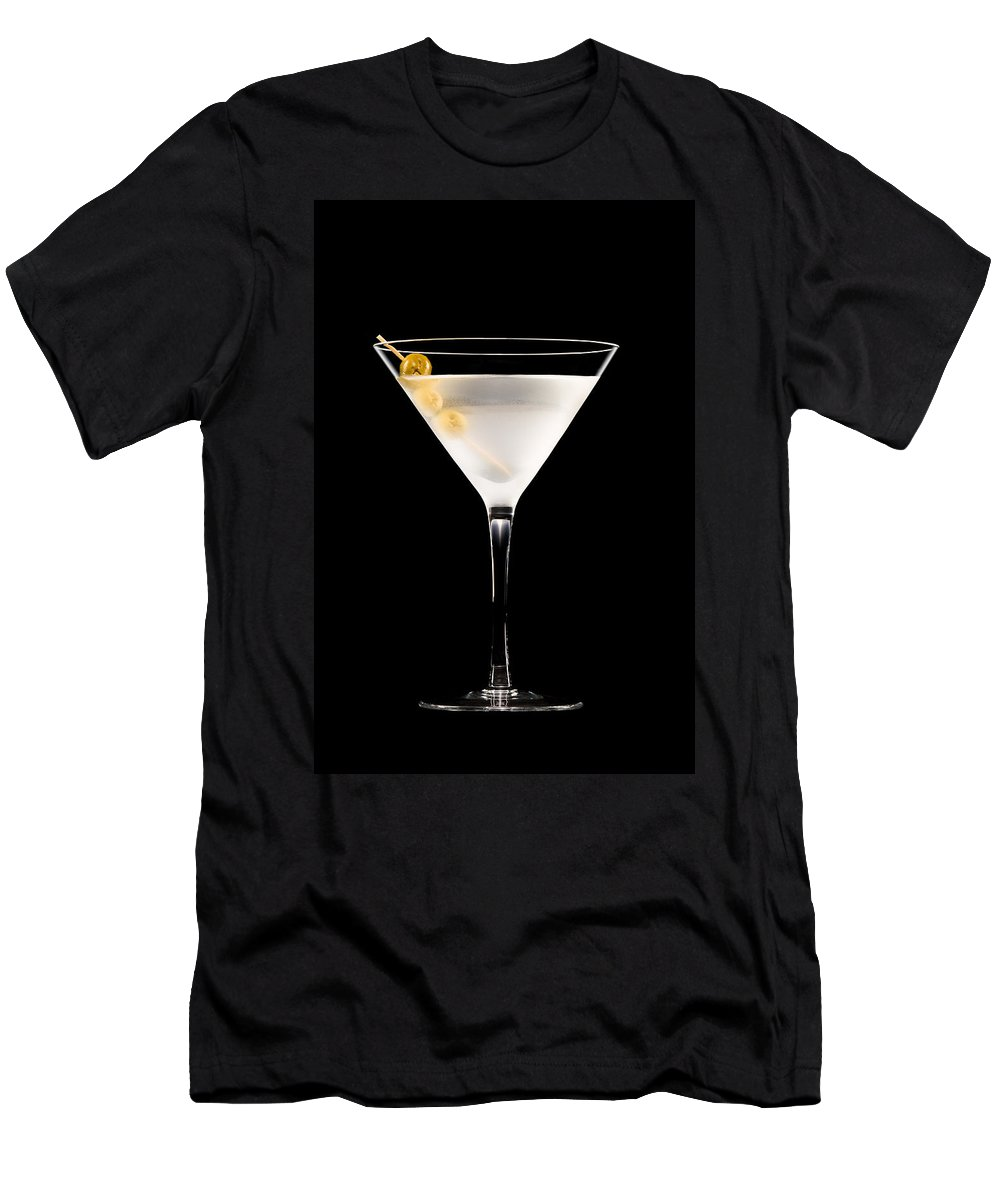Alcohol Men's T-Shirt (Athletic Fit) featuring the photograph Vodka Martini by U Schade