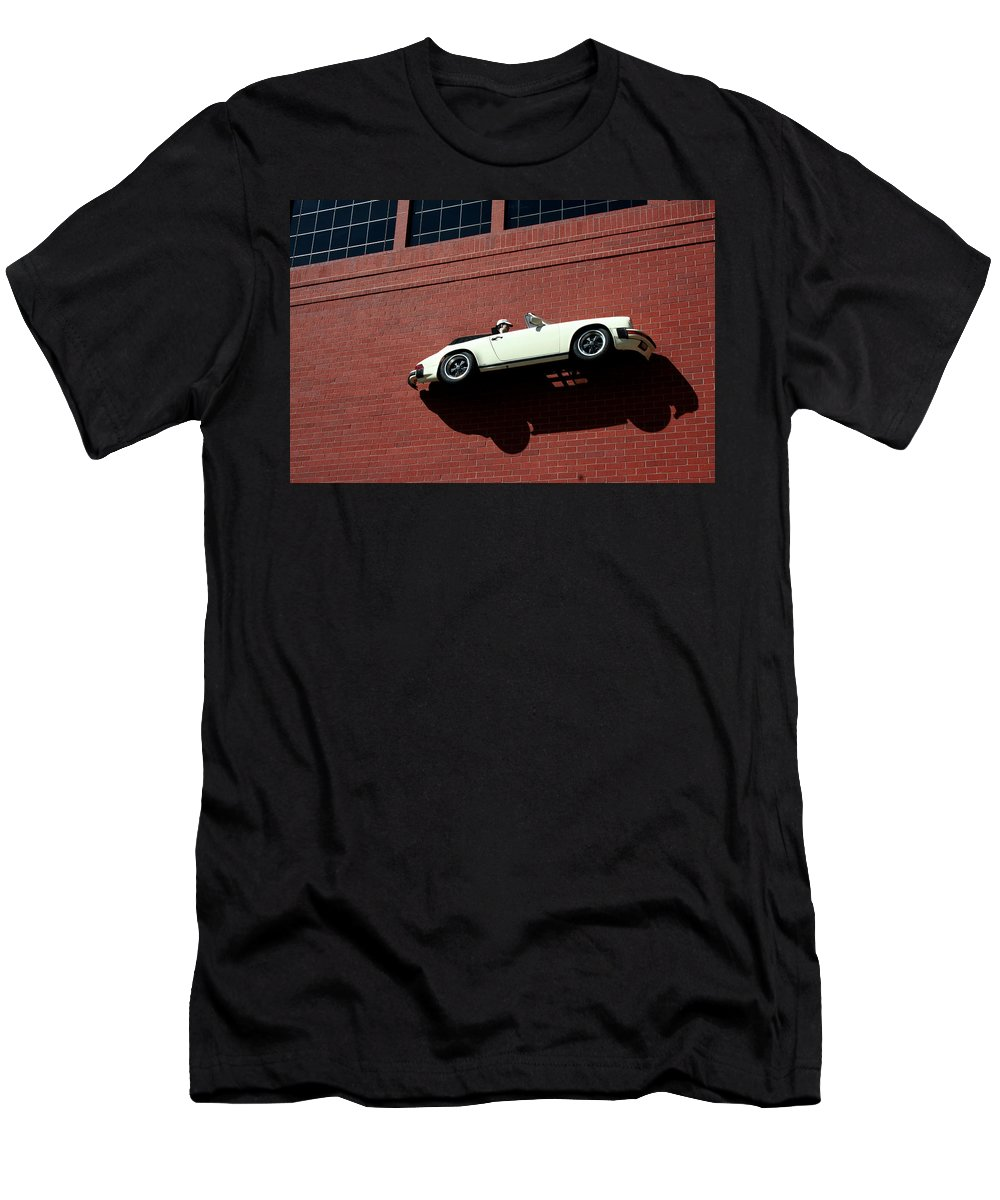Brick Men's T-Shirt (Athletic Fit) featuring the photograph Vroom by Ric Bascobert