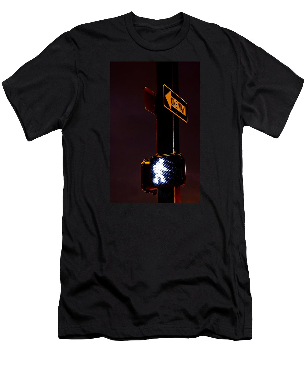 Sign Men's T-Shirt (Athletic Fit) featuring the photograph Walk This Way by Carolyn Marshall