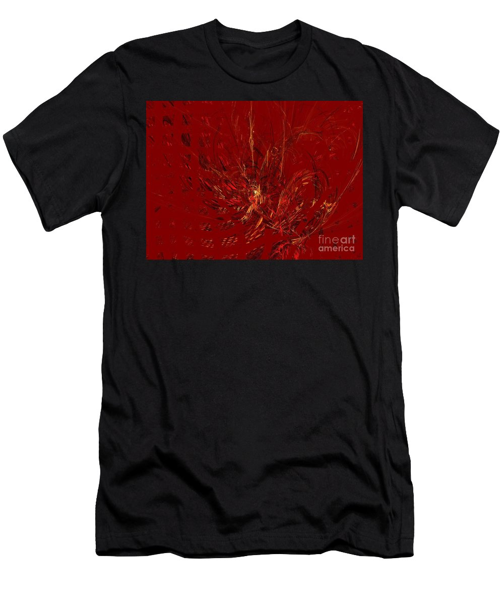 Apophysis Men's T-Shirt (Athletic Fit) featuring the digital art Warmth by Kim Sy Ok