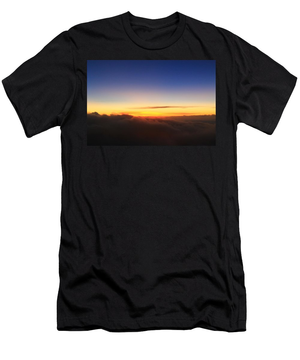 Sunset Men's T-Shirt (Athletic Fit) featuring the photograph Wave Of Clouds by Catie Canetti