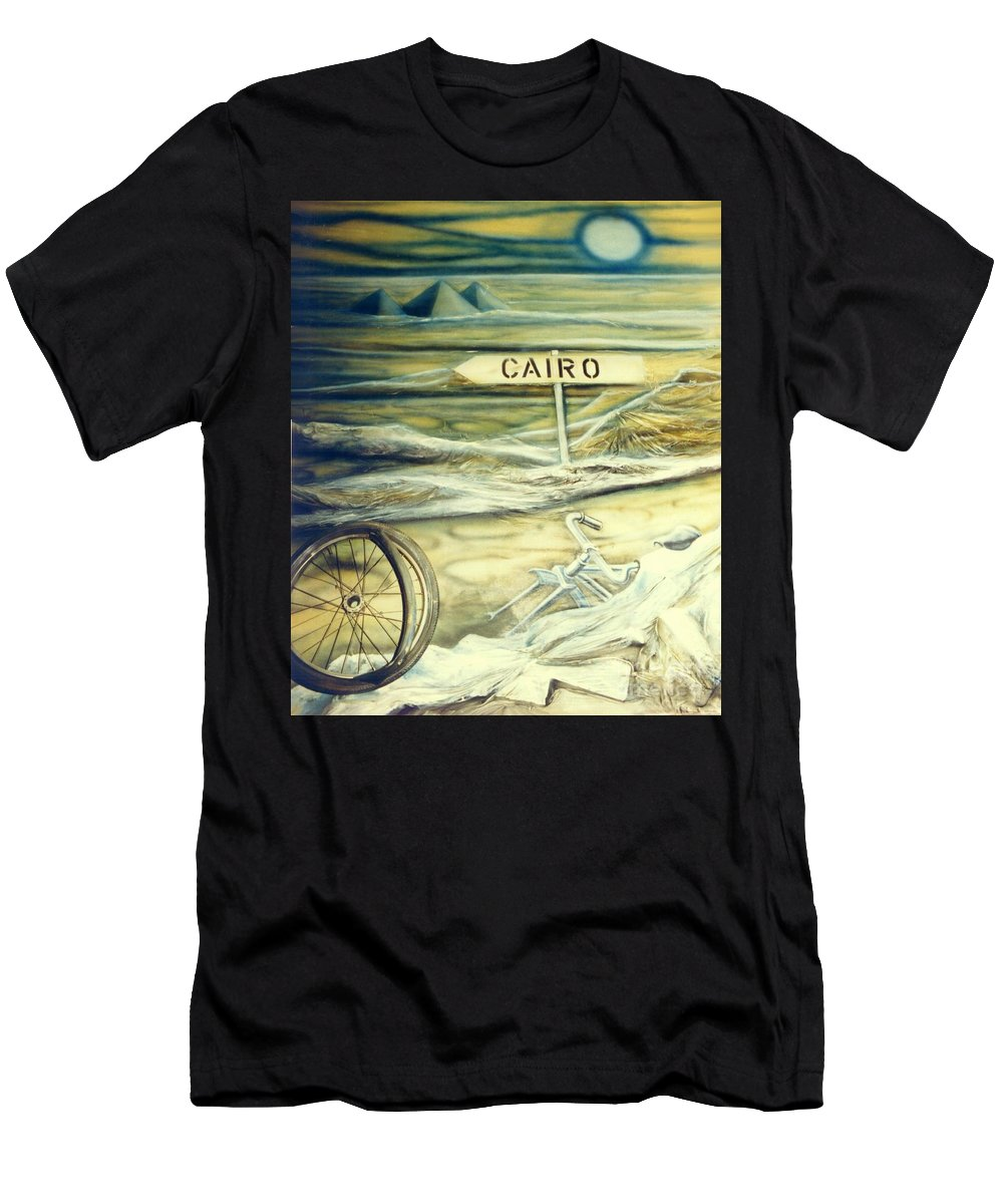 Replica Men's T-Shirt (Athletic Fit) featuring the painting Way To Cairo by Eva-Maria Di Bella