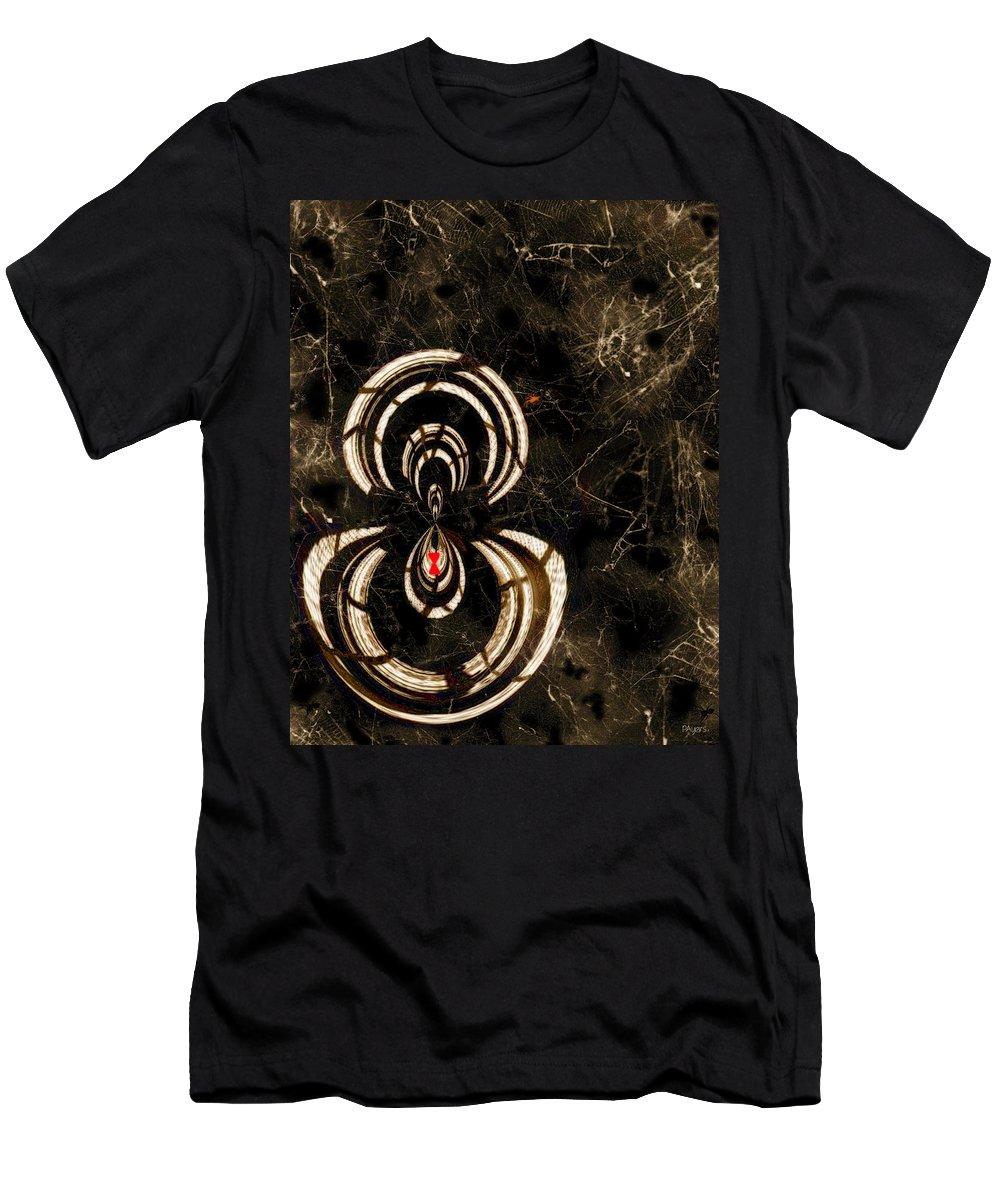 Paula Ayers Men's T-Shirt (Athletic Fit) featuring the digital art Web Mistress by Paula Ayers