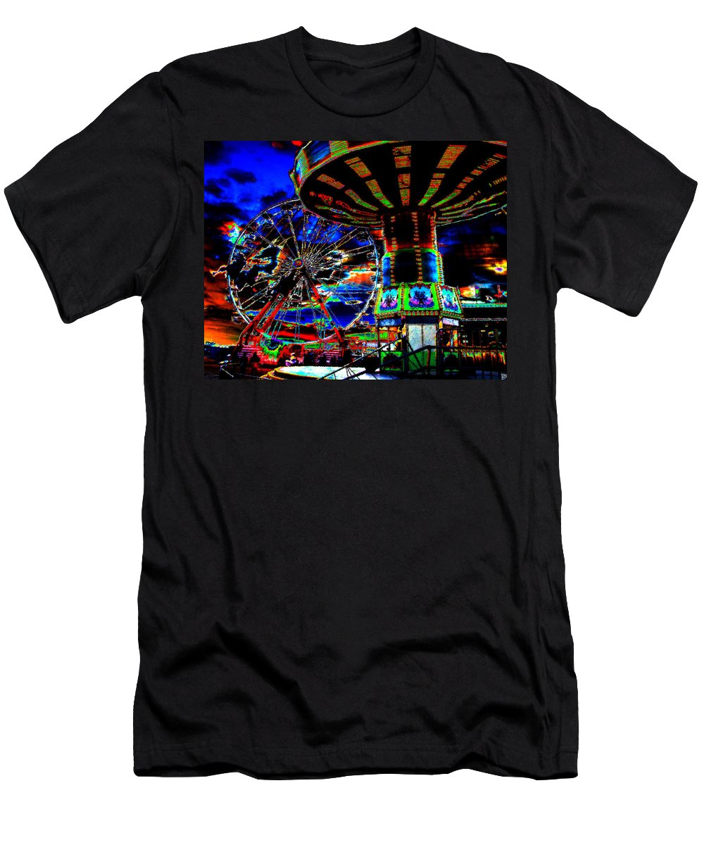 Art Men's T-Shirt (Athletic Fit) featuring the painting Wild Rides by David Lee Thompson