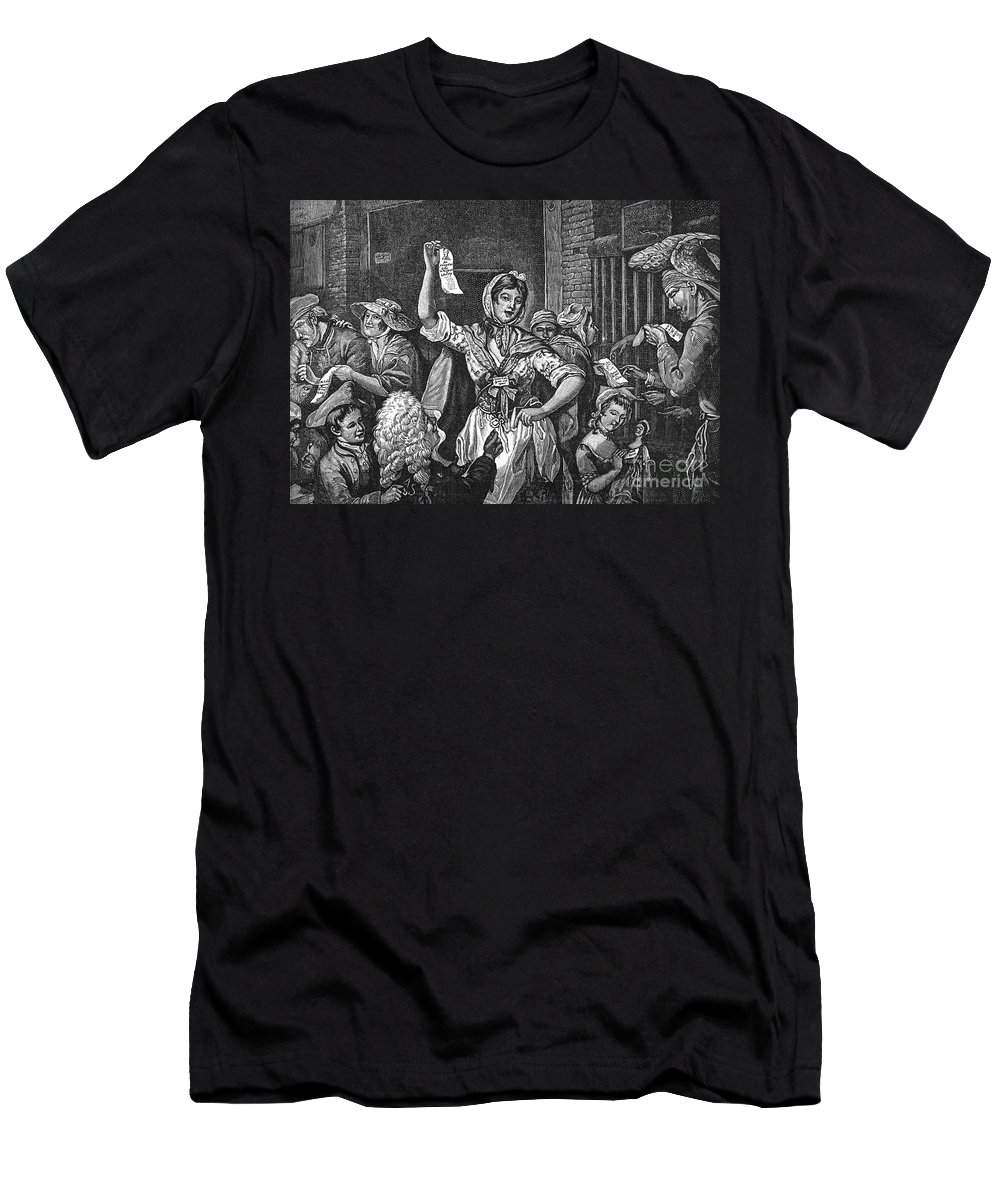 1768 Men's T-Shirt (Athletic Fit) featuring the photograph Wilkes And Liberty Riots by Granger