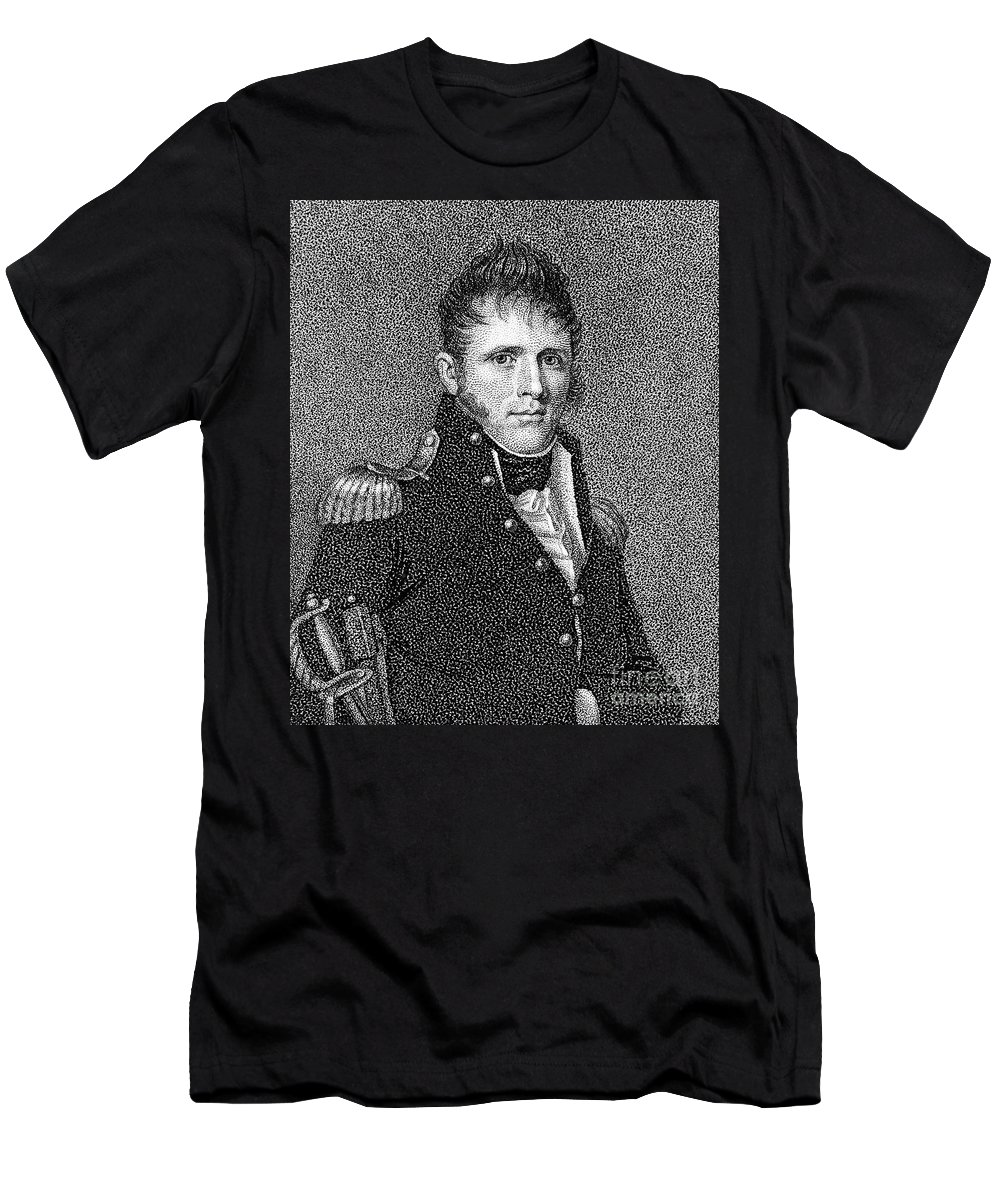 19th Century Men's T-Shirt (Athletic Fit) featuring the photograph Winfield Scott (1786-1866) by Granger