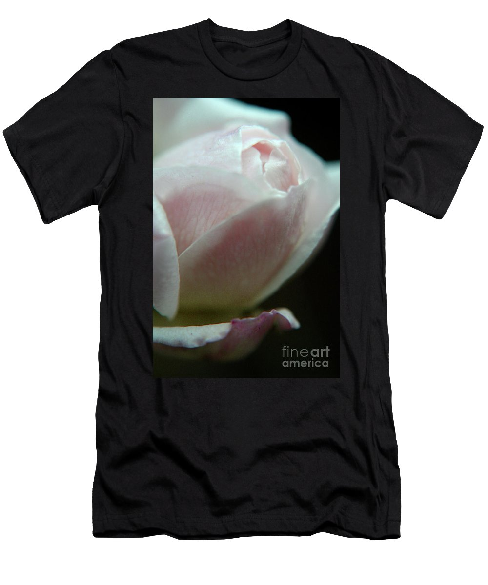 Pink Men's T-Shirt (Athletic Fit) featuring the photograph Winter Rose by Heather Applegate