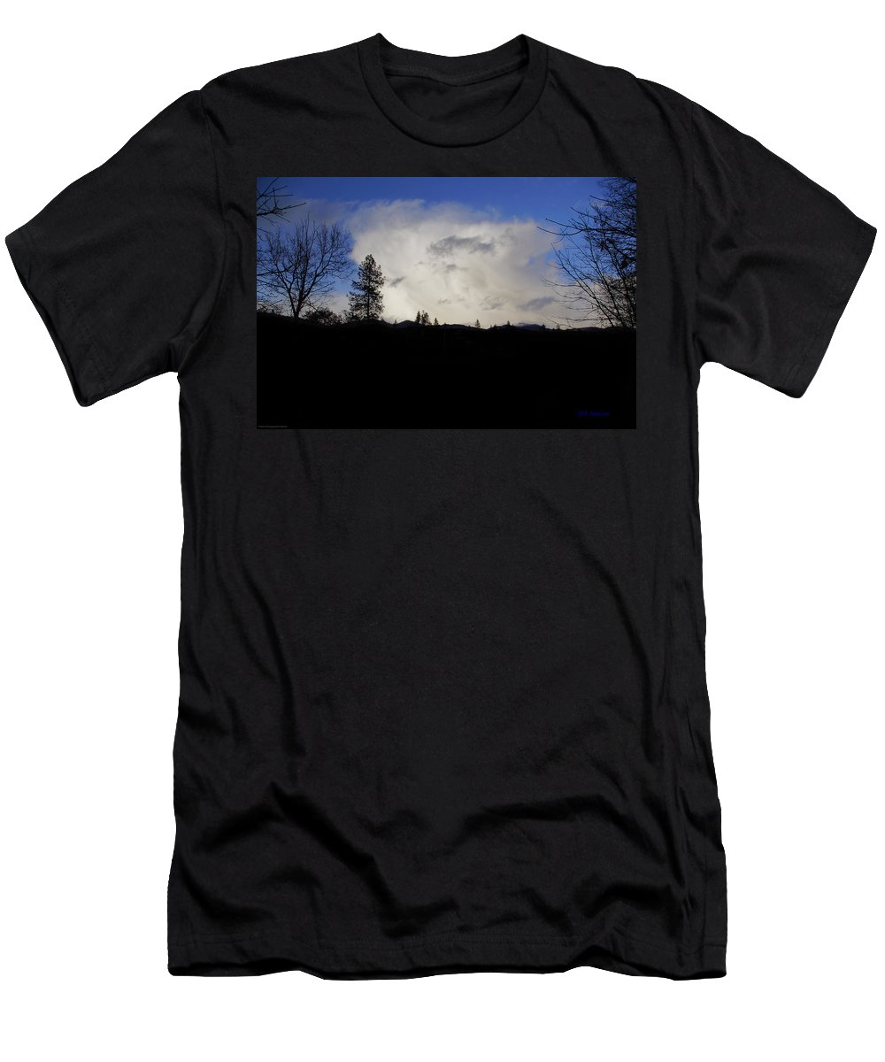 Winter Men's T-Shirt (Athletic Fit) featuring the photograph Winter Thunderhead by Mick Anderson
