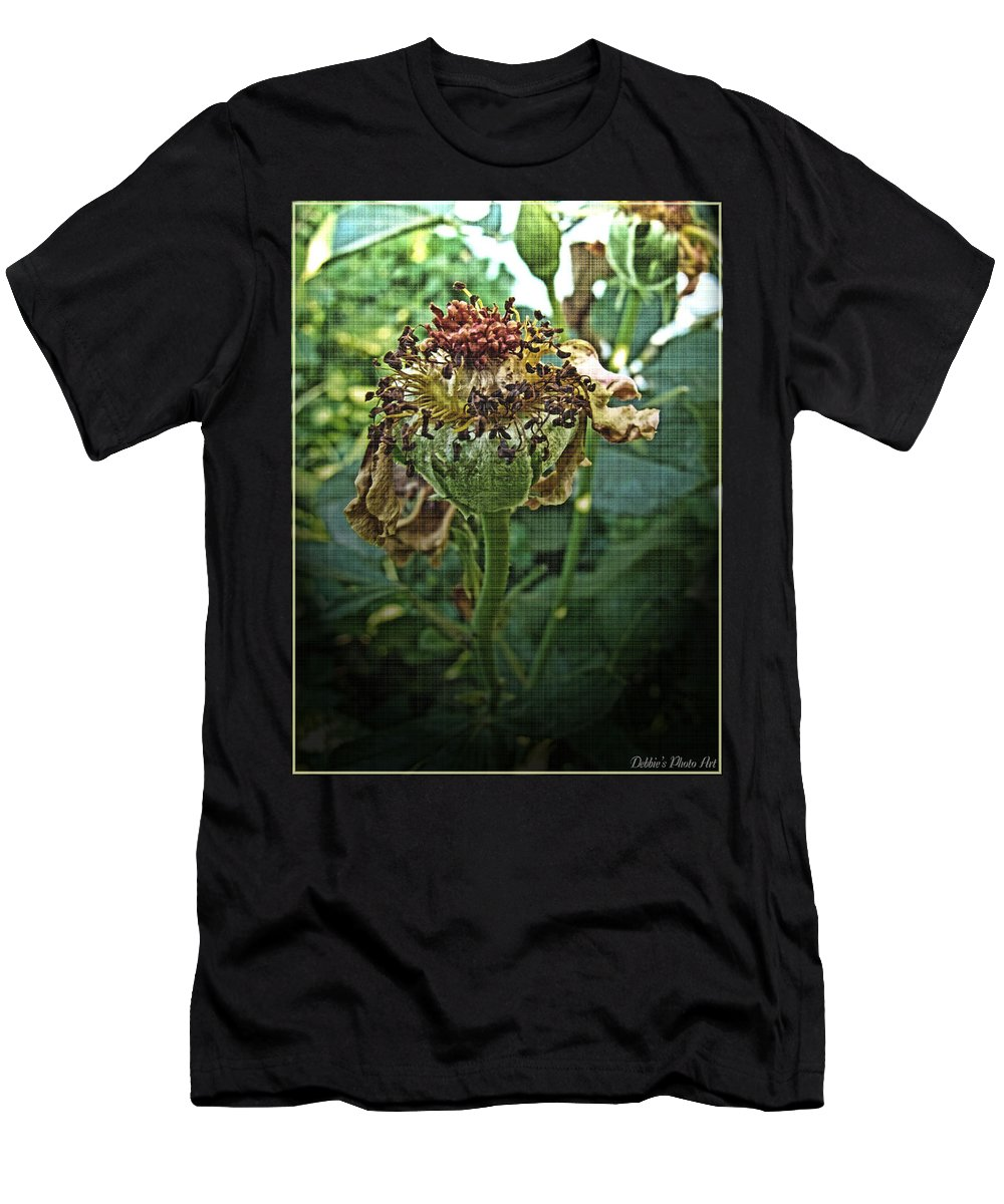 Nature Men's T-Shirt (Athletic Fit) featuring the photograph Withered Away by Debbie Portwood