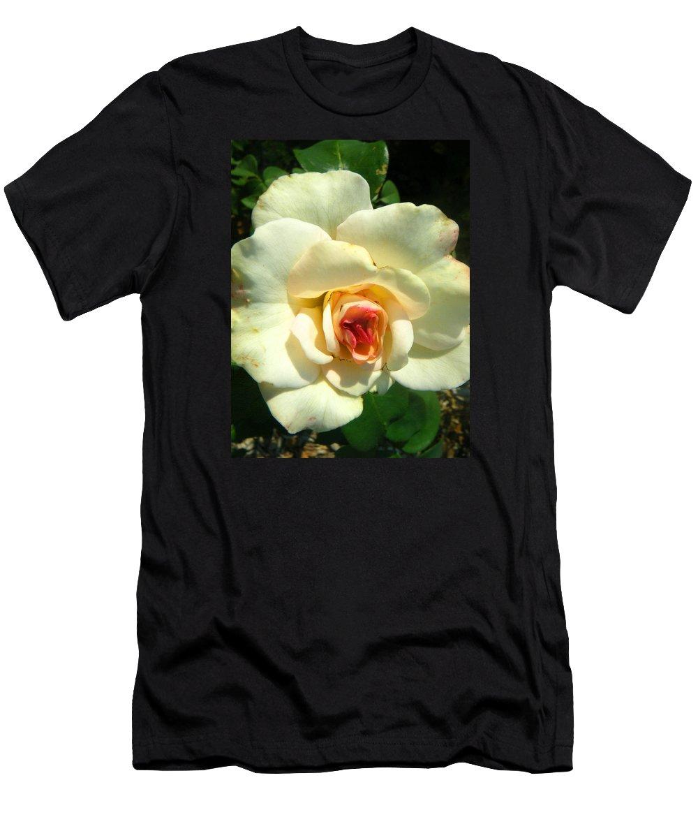 Landscapes Men's T-Shirt (Athletic Fit) featuring the photograph Wonderland Rose by April Patterson