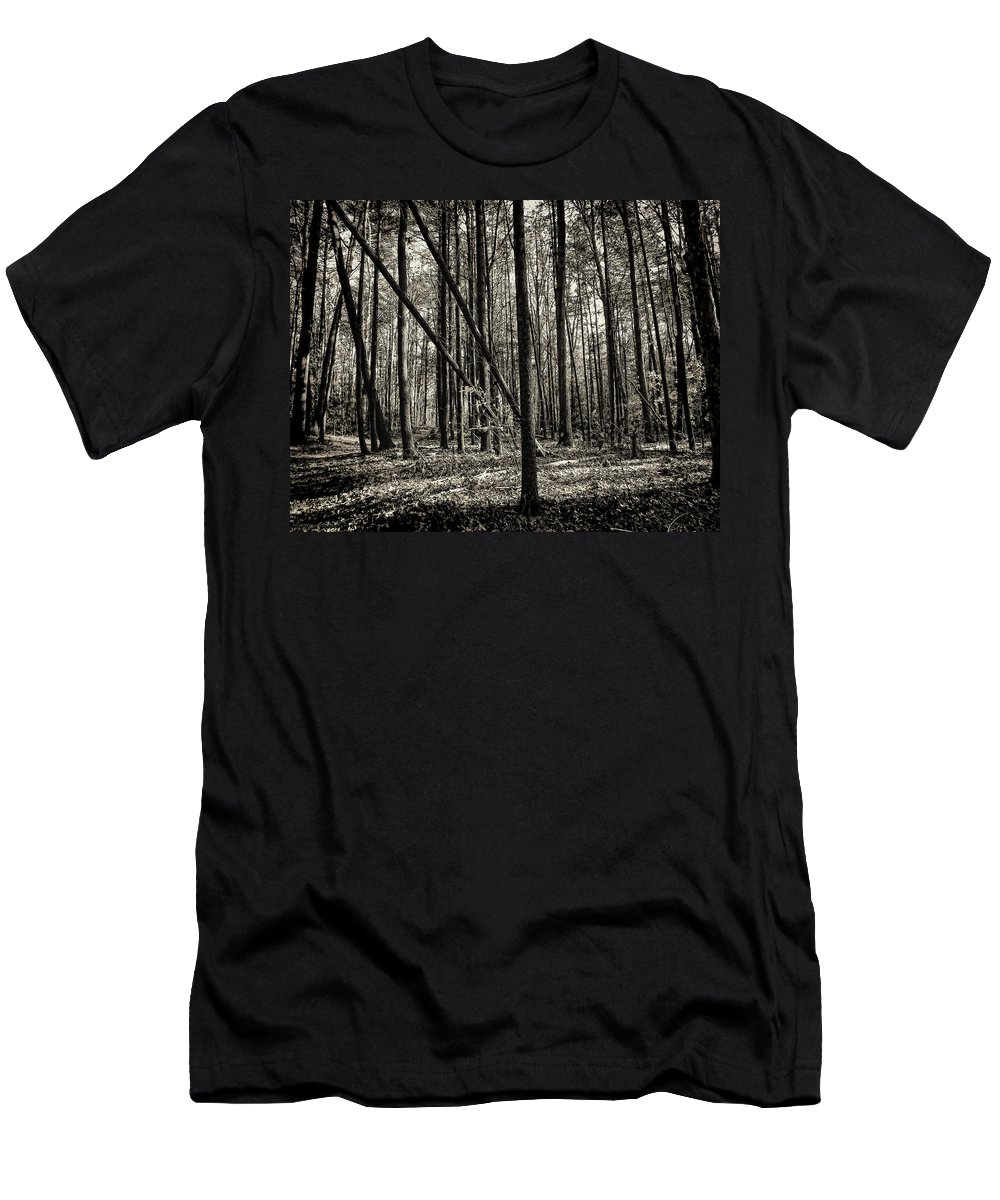 Woodland Men's T-Shirt (Athletic Fit) featuring the photograph Woodland by Lourry Legarde
