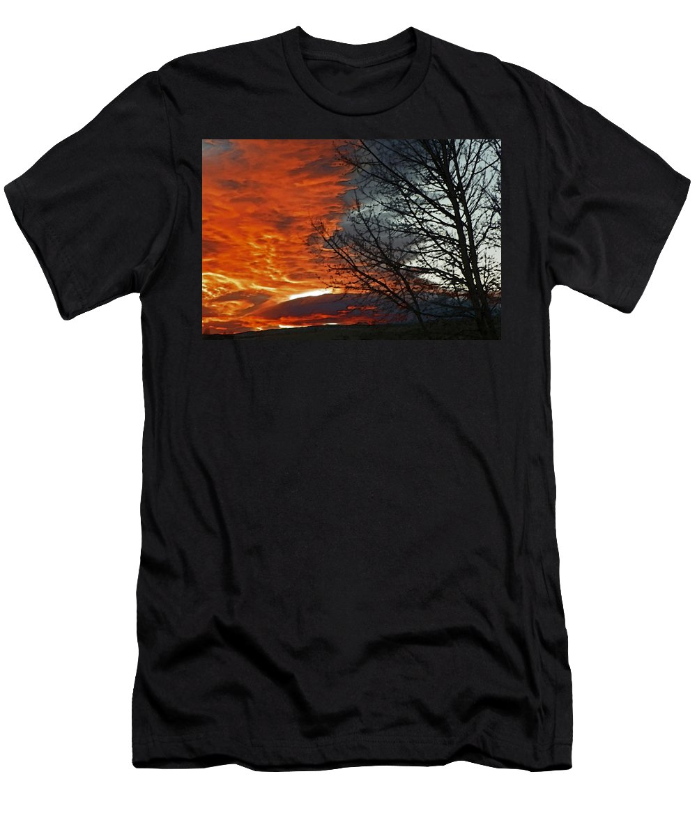 Abstract Men's T-Shirt (Athletic Fit) featuring the photograph Wyoming Sunrise 2 by Lenore Senior