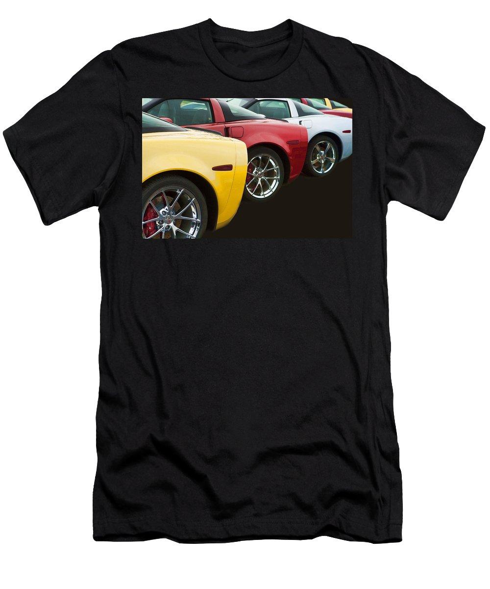 Corvette Men's T-Shirt (Athletic Fit) featuring the photograph You Choose by Kathy Clark