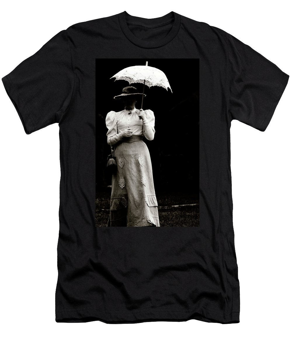 Abstract Men's T-Shirt (Athletic Fit) featuring the photograph Young Lady Shady by The Artist Project
