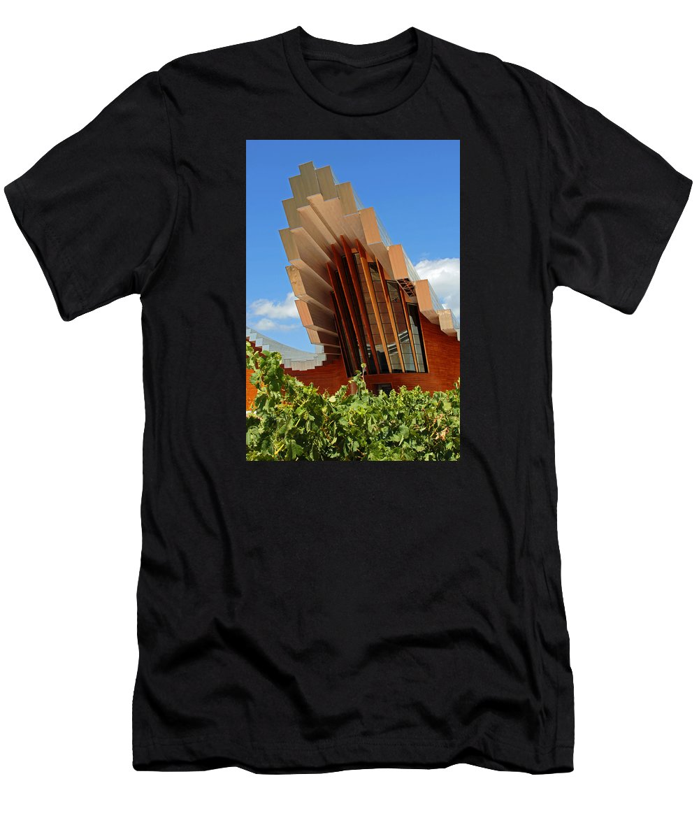 Wine Men's T-Shirt (Athletic Fit) featuring the photograph Ysios Winery Spain by John Stuart Webbstock