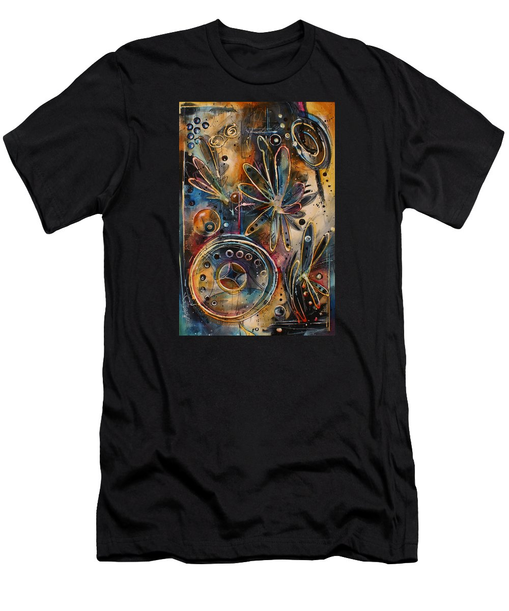 Abstract Men's T-Shirt (Athletic Fit) featuring the painting ' Runaway ' by Michael Lang