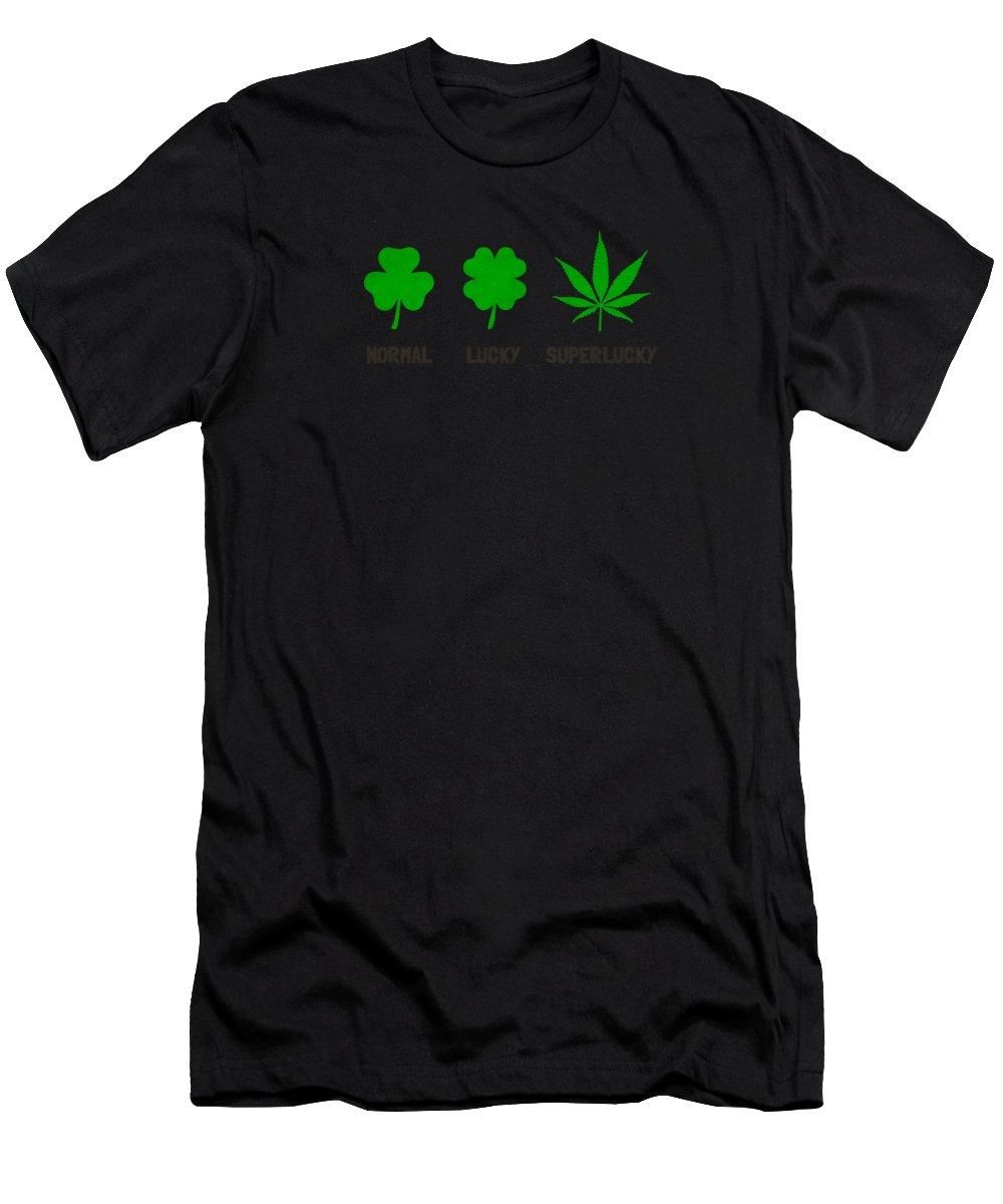Leaf Men's T-Shirt (Athletic Fit) featuring the digital art Cannabis  Hemp 420  Marijuana Pattern by Philipp Rietz