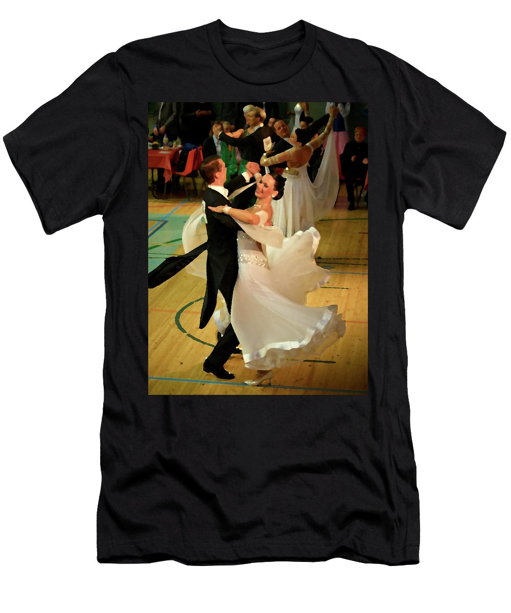 Lehtokukka Men's T-Shirt (Athletic Fit) featuring the photograph Dance Contest Nr 08 by Jouko Lehto