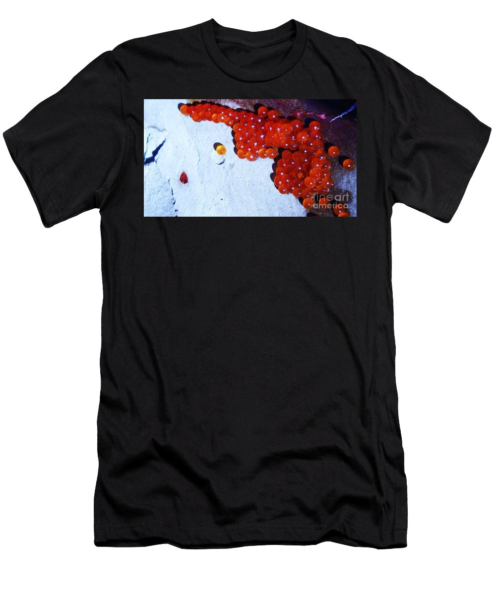 Photograph Fish Egg Lake Water Rock Men's T-Shirt (Athletic Fit) featuring the photograph Don't Kill Me. by Seon-Jeong Kim