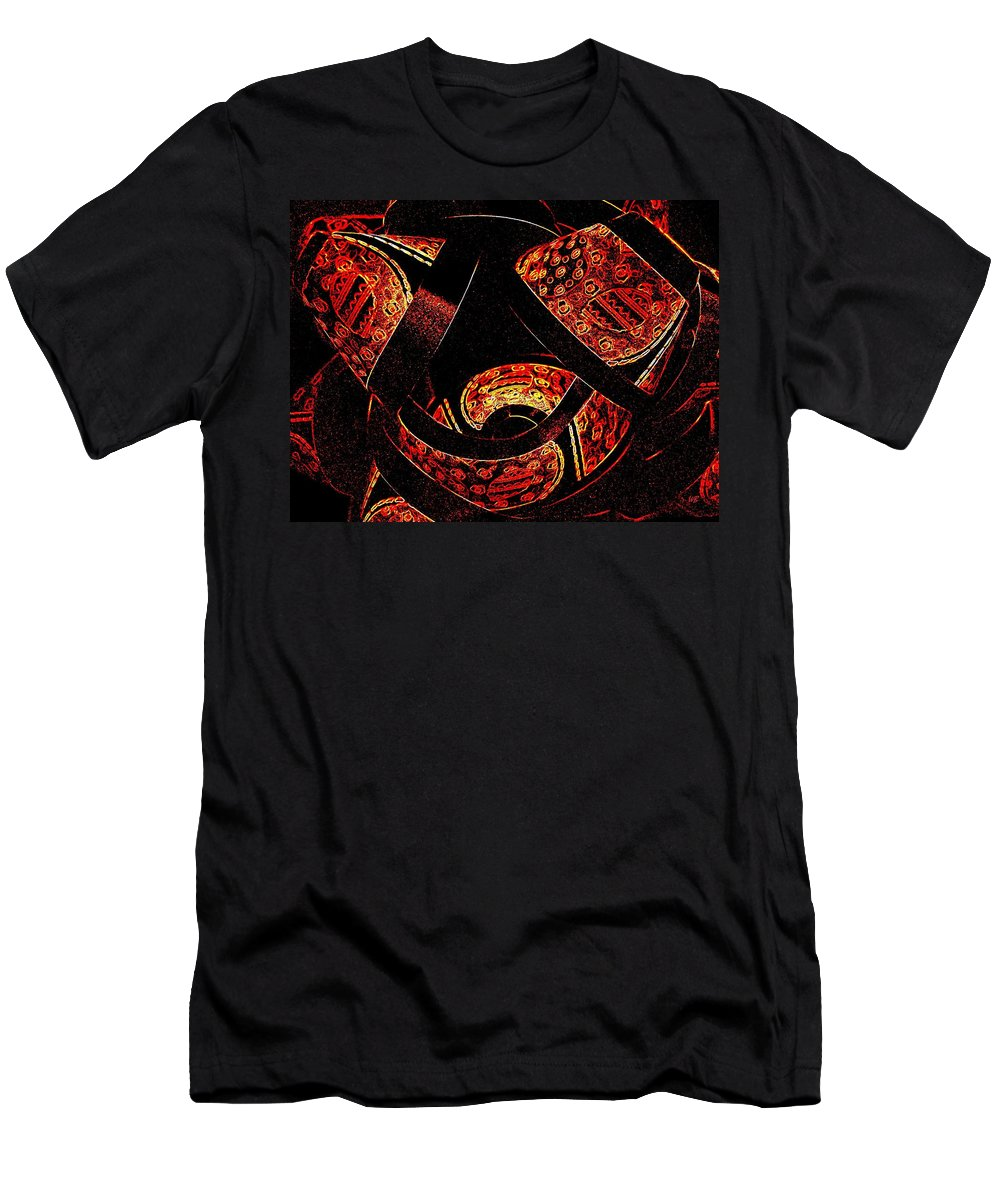 Abstract Men's T-Shirt (Athletic Fit) featuring the digital art Galactic Flow by Will Borden