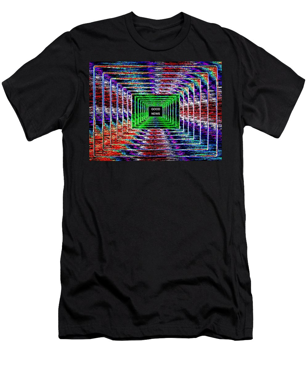 Good News Men's T-Shirt (Athletic Fit) featuring the digital art Good News by Will Borden