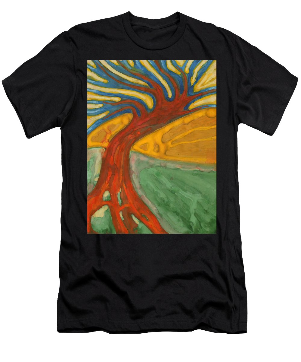 Colour Men's T-Shirt (Athletic Fit) featuring the painting I Would Like To Be Me by Wojtek Kowalski