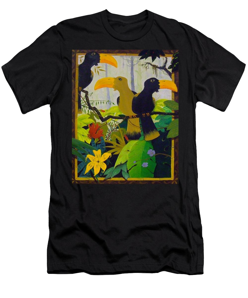 Jungle T-Shirt featuring the painting Jungle Boogie by Patrick Trotter