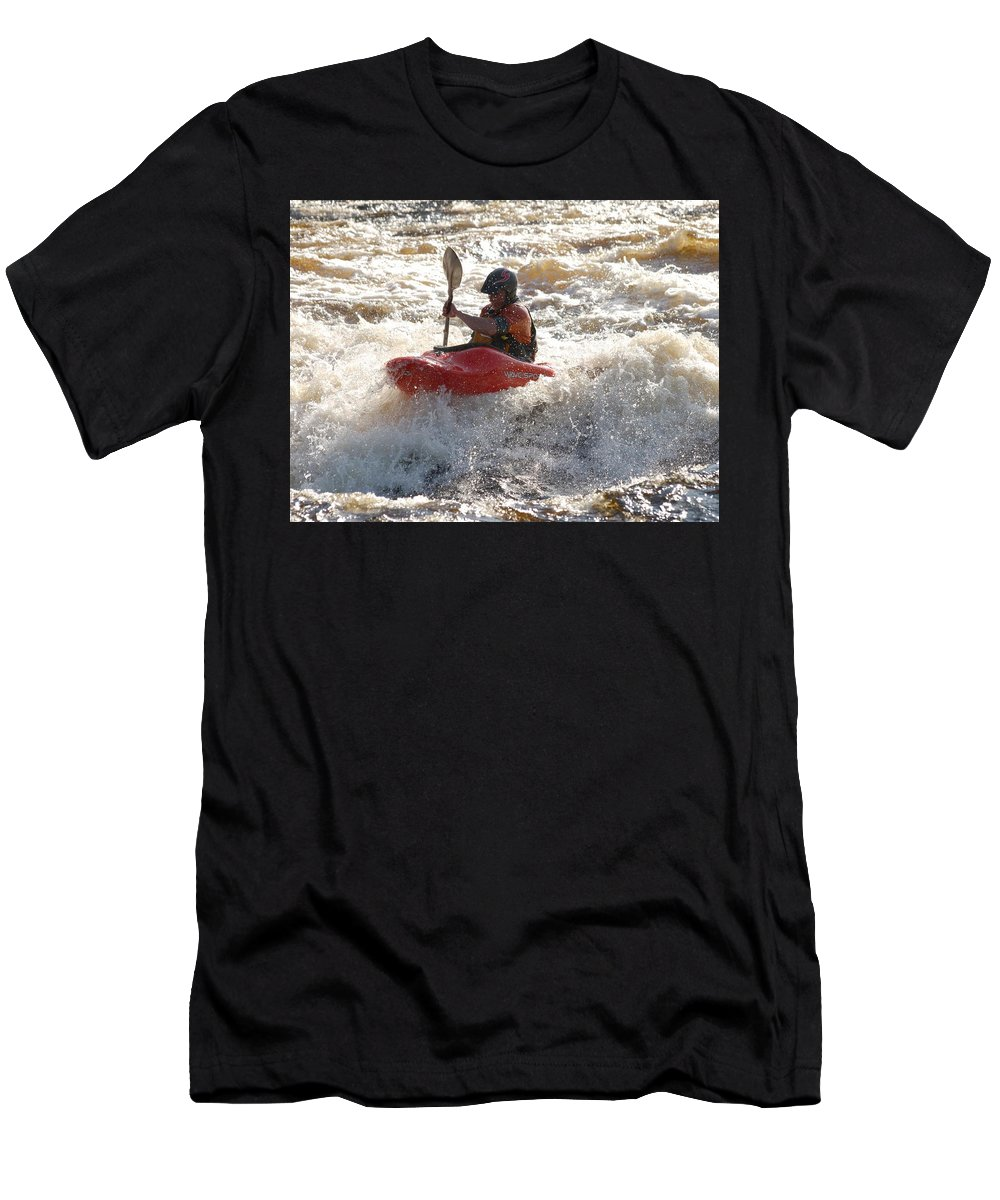 Lehtokukka Men's T-Shirt (Athletic Fit) featuring the photograph Kayak 4 by Jouko Lehto