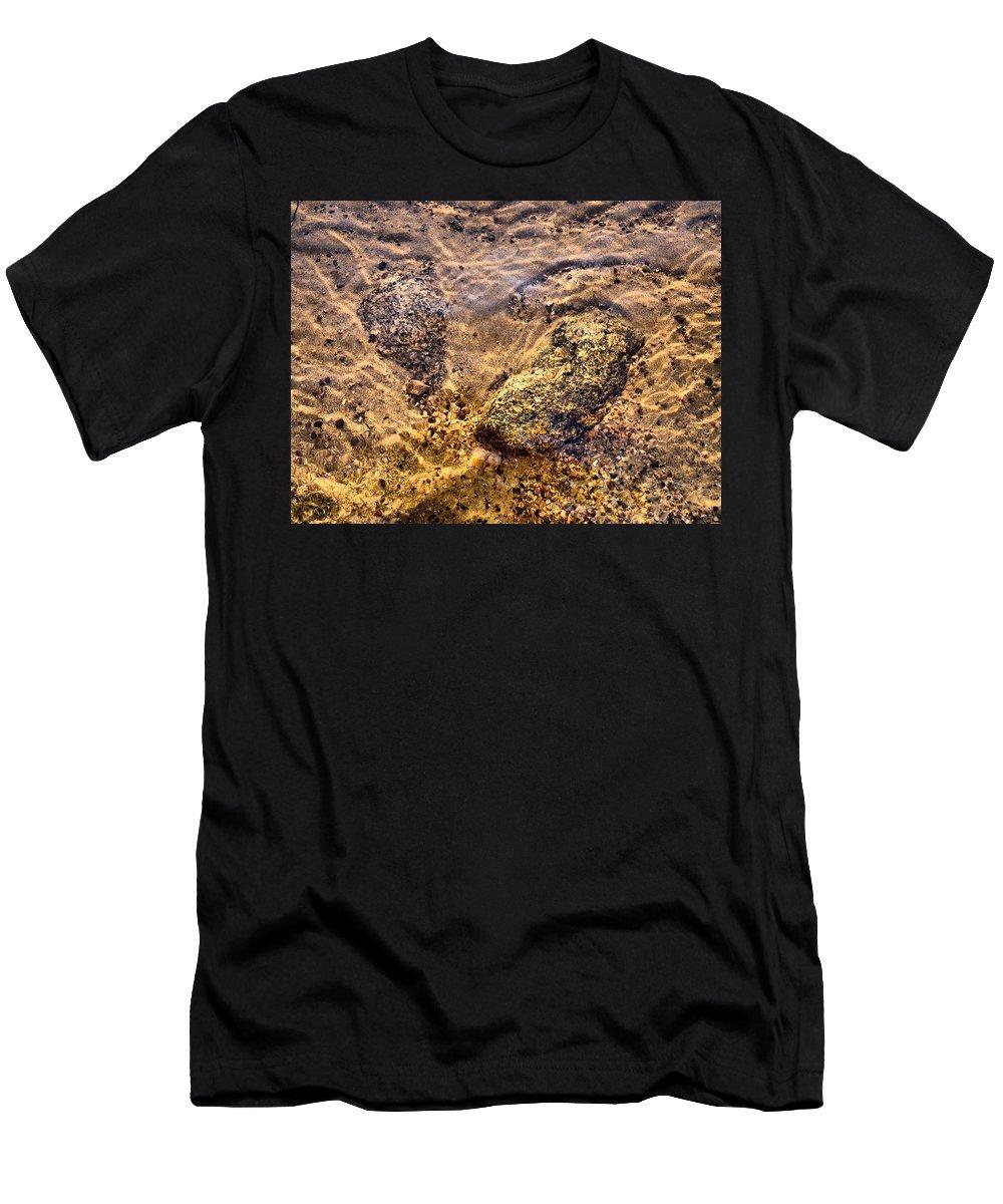 Haukkajärvi Men's T-Shirt (Athletic Fit) featuring the photograph Lakescapes 3 by Jouko Lehto