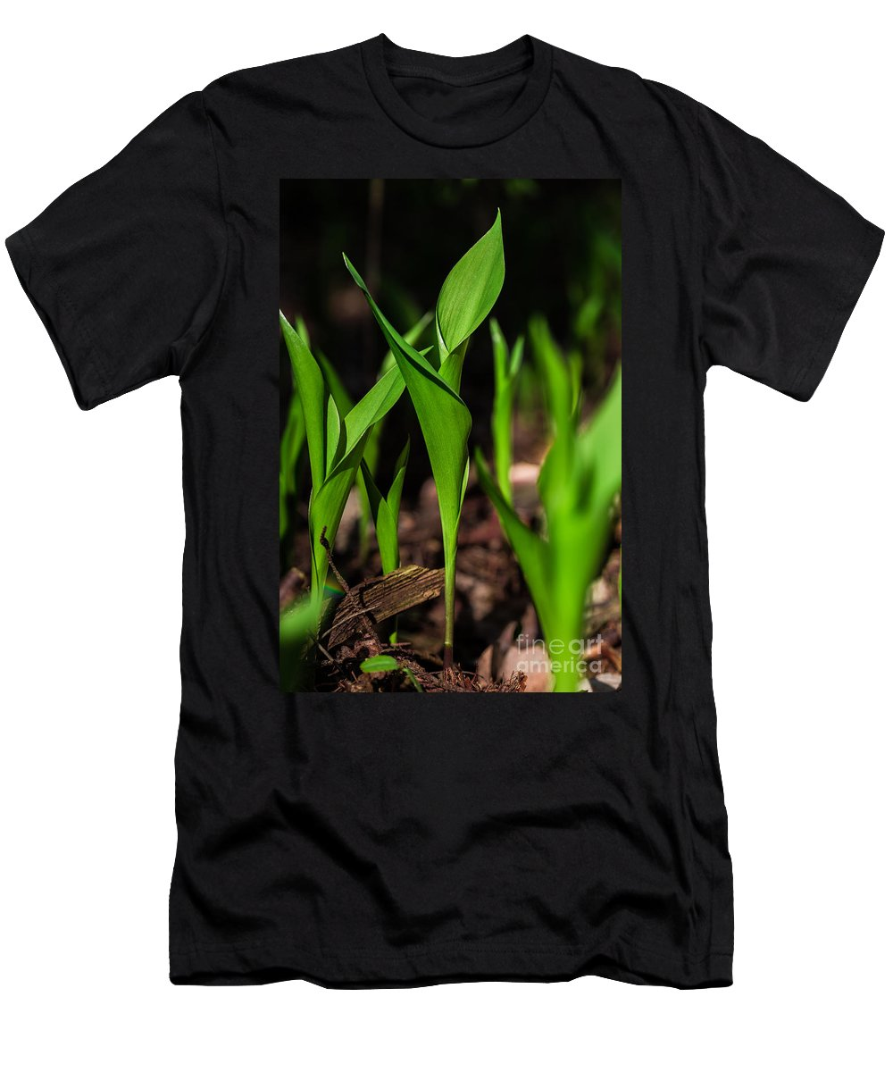 Outside Men's T-Shirt (Athletic Fit) featuring the photograph Lily Of The Valley by Pawel Zaremba