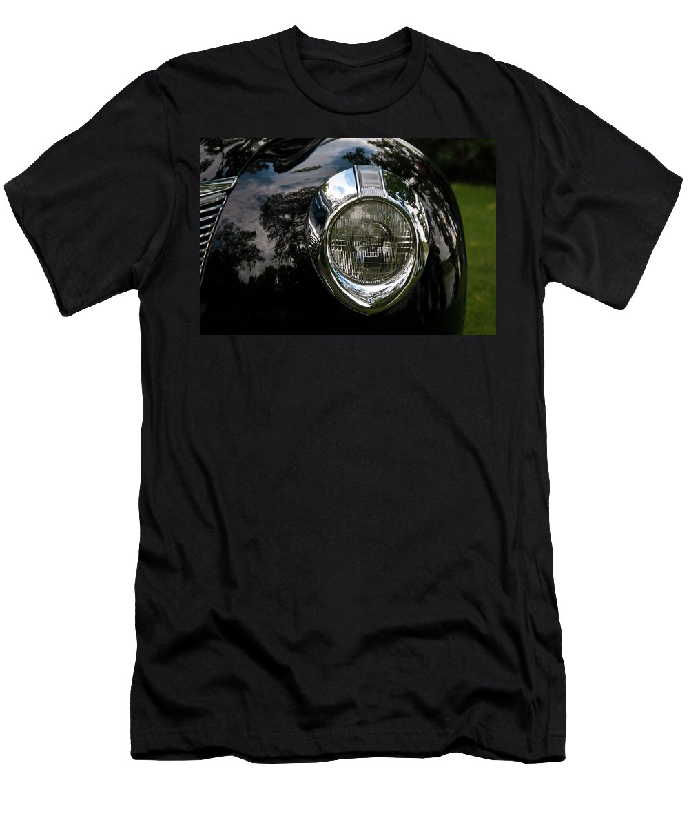 Antique Car Men's T-Shirt (Athletic Fit) featuring the photograph One Eye 13128 by Guy Whiteley